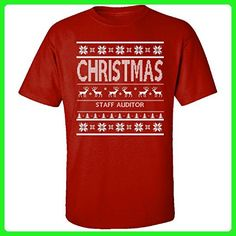 Christmas Staff Auditor Ugly Sweater - Adult Shirt M Red - Holiday and seasonal shirts (*Amazon Partner-Link)