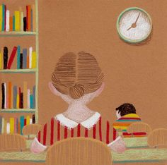 Leo, imagino, vivo… en la biblioteca (ilustración de Dani Torrent) #biblioteques_UVEG