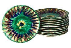 Mexican Majolica Plates, Set of 8 on OneKingsLane.com