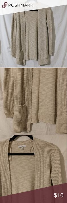 NWOT Sonoma oatmeal colored cardigan Cotton/rayon blend Long enough to be worn with leggings Great for layering  Second & third pic are actual color 😊 BUNDLE AND SAVE 😊 Sonoma Sweaters Cardigans