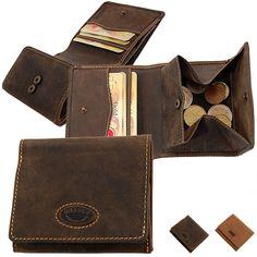 Branco E-Flagship Store - Leder Herren Geldbörse Portemonnaie Geldbeutel Opa Börse Wiener Schachtel 48783