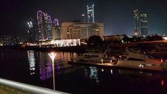 Night scene #abudhabi #eitihadtowers