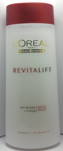 L'Oreal Revita Lift Aqua-milky Anti Wrinkle Toner by L'Oreal Paris. $16.49. L'OREAL Revita - Lift Anti Wrinkle and Firming 200ml With time skin quality deteriorates, features draw and wrinkles appear. To fight agaist the signs of ageing, L'oreal Paris Laboratories present the new Revitalift Toner to moisturize and revitalize the skin Intense action Anti Wrinkle efficacy Pro-Retinol A forte, A powerful Anti-Wrinkle complex, stimulates the regenaration of skin's cel...