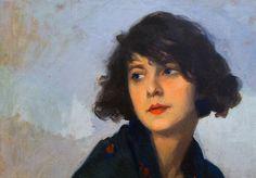 Detail of Mulher do Xale Verde, by Cyprien Eugene Boulet Louise Brooks, Magritte, Illustrations, Illustration Art, Carlo Scarpa, France Art, Oil Portrait, Portrait Paintings, Portraits