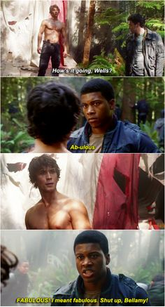 The 100 crack || Wells Jaha and Bellamy Blake || Wellamy || Eli Goree and Bob Morley