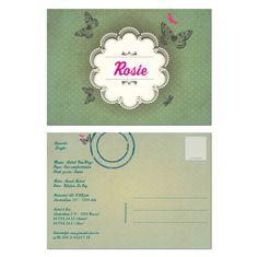 geboortekaartjes Meisjes : geboortekaartje Rosie | Originele geboortekaartjes van Hierbenik