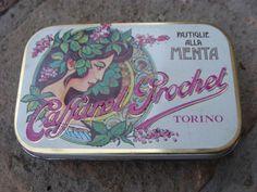 scatole pubblicitarieCARAMELLE CAFFAREL Torino vintage9,5x6pubblicità alimentari