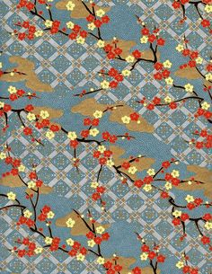 Red and Gold Crane Patterned Japanese Chiyogami / Yuzen Paper No. Japanese Textiles, Japanese Fabric, Japanese Prints, Japanese Design, Japanese Paper Art, Chinese Patterns, Japanese Patterns, Miyazaki, Textures Patterns