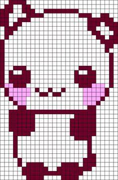 cute animal pixel art templates - Google Search