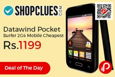 Shopclues #DealofTheDay is offering 71% off on Datawind Pocket Surfer 2G4 Mobile Cheapest at Rs.1199 Only. Screen Display Size : 3.5 inches(8.89 cm), Android 4.2 OS, Datawind Pocket Surfer 2G4 smartphone was launched in March 2015.   http://www.paisebachaoindia.com/datawind-pocket-surfer-2g4-mobile-cheapest-at-rs-1199-only-shopclues/