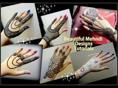 DIWALI special Mehndi Designs II Beautiful jewellery style henna designs Tutorial for DIwali and Eid - YouTube