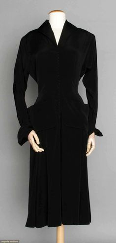 Ceil Chapman Dinner Dress, Late 1940s, Augusta Auctions, April 9, 2014 - NYC, Lot 298