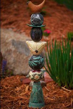 Ceramics 283: Ceramic Totem Poles by Laurie Landrie http://ceramics283.blogspot.com/2013/02/ceramic-totem-poles.html