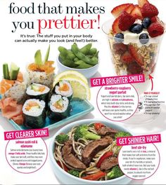Food that makes you prettier...