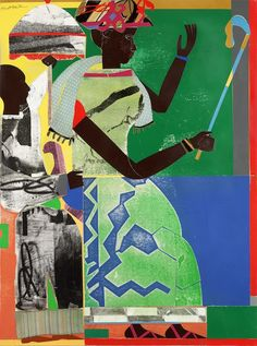 Romare Bearden (USA She-ba collage on paper, cloth and synthetic polymer paint on composition board African American Artist, American Artists, African Art, Vincent Van Gogh, Picasso And Braque, Romare Bearden, Art Story, Black Artists, Male Artists