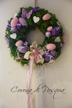 DIY Pink&Violet Easter Wreath  https://www.etsy.com/it/your/shops/MadewithLoveforBlog/tools/MadewithLoveforBlog/it/listings/sort:title,order:ascending,stats:true/268362066
