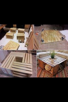 crate coffee table ... Piece of cake to make !!