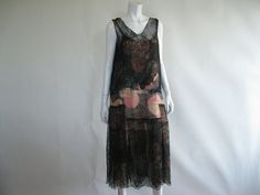 Antique 1920s Dress / 20s  Vintage Flapper Silk by ladyscarletts, $494.00