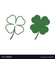 Leaf clover vector image on VectorStock Shamrock Tattoos, Clover Tattoos, Clover Logo, Leaf Clover, Tatto Floral, Free Vector Images, Vector Free, Sant Patrick, Ring Vector