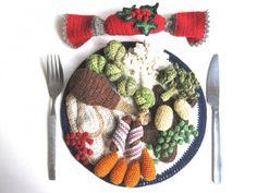 Kate Jenkins knits art. Here's her Christmas dinner.