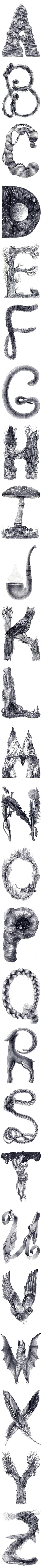 Drawing Typography by Eika Dopludo