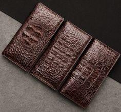 Crocodile skin wallet Leather Skin, Leather Wallet, Leather Bag, Custom Wallets, Alligator Wallet, Handbags For Men, Crocodile Skin, Handmade Ideas, Leather Working
