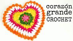 Corazón Grande a Crochet - Paso a Paso