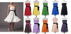 Elegant pleated bust strapless bridesmaid by BestdealFashion, $44.99love this in brown with pink sash