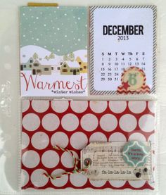 perfect for December pages or December Daily insert...no clue how I am doing it this year