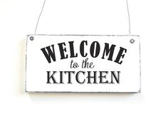 WELCOME TO THE KITCHEN Dekoschild Vintage Shabby von DöRPKIND auf www.doerpkind.de