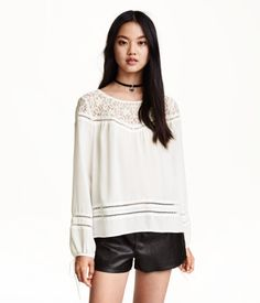 Chiffon Blouse in White for Mom to wear with skinny jeans. Could pair with any of the shoes chosen. Style with delicate jewelry not as shown.