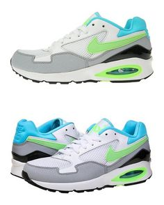 Women's Nike Air Max ST Running Shoes White/ Lime/ Blue/ Grey Size 10 #shoes #nike #2016