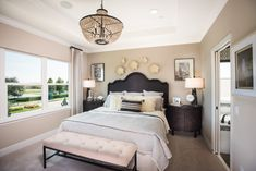 View Floor Plans at Woodland Park in Orlando, FL Sophisticated Bedroom, Orlando Theme Parks, Woodland Park, Bedroom Floor Plans, Bedroom Flooring, New Homes, Chandelier, House Design, Interiors