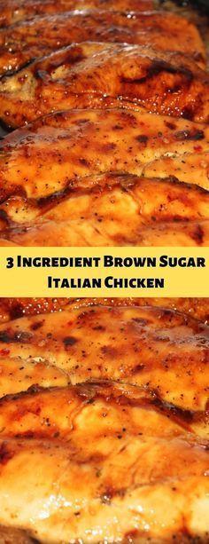 Poulet italien au sucre brun et aux 3 ingrédients  Recettes faciles