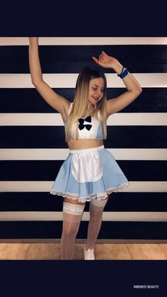 22 Hottest College Halloween Costumes - Page 2 of 2 - Inspired Beauty Amazing Halloween Costumes, Halloween Kostüm, Halloween Outfits, Halloween Dress, Cheer Costumes, Alice Costume, Halloween Kleidung, Wonderland Costumes, Halloween Disfraces