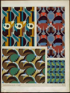 Plate from ornements abstraits : quatre-vingt-sept motifs en vingt planches by M. P. Verneuil