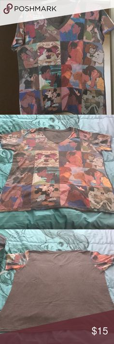 "Plus Size Unique Disney Princess/Characters Shirt Wish upon a Star and feel like you're kissing your Prince Charming while wearing this shirt. I absolutely love how unique this shirt is. In a grid fashion, it pictures various Disney couples sharing their kisses of true love. Absolutely perfect for strolling around at Disneyland or for date nights with your own Prince.   No matter the occasion, this shirt screams, ""Get it Girl""  Some Characters Pictured:  Hercules & Meg Mowgli & Baloo Jane…"