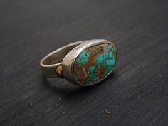 Turquoise ring turquoise turquoie jewelry turquoise jewellery gemstone vintage boho jewelry silver ring jewelry jewellery jewels gems handmade jewelry