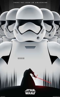 Star Wars: The Force Awakens fan-art poster design Stormtrooper, Darth Vader, Star Wars Episoden, Image Digital, The Force Is Strong, Star Wars Poster, Charlie Chaplin, Love Stars, Cultura Pop