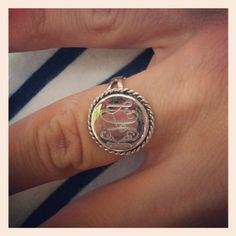 Monogram Ring - Round with Script Lettering