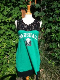 Marshall University dress oh my gosh love it! Marshall University, What A Girl Wants, Football Season, Sewing Clothes, Athletic Tank Tops, Style Me, Cute Outfits, Fun Things, Sewing Projects