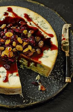 This majestic Blue Stilton centrepiece with cranberries, raisins and port glaze will delight your guests after the main event.