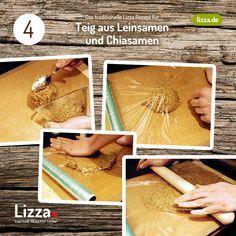 Low-carb Pizza Teig aus Chia- und Leinsamen   Lizza