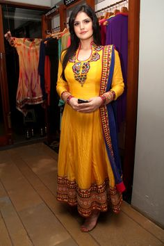 Zarine Khan. Designers launch their latest collection at FUEL. #Bollywood