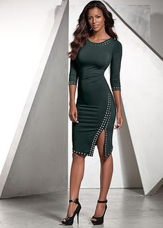Stud detail dress, peep toe heel in the VENUS Line of Dresses for Women