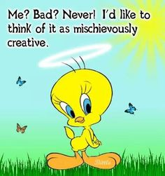 Funny Quotes and Humor Tweety Bird Quotes, Bunny Quotes, Cute Quotes, Funny Sayings, Funny Cartoons, Funny Jokes, Hilarious, Looney Tunes Funny, Funny Tweets