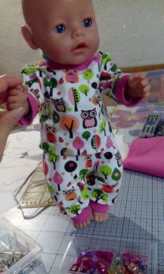 Kleidung & Accessoires Baby Born Poncho mit Hose Gr.43cm Annabelle Puppen & Zubehör