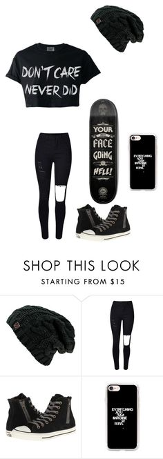"""Untitled #140"" by darksoul7 on Polyvore featuring Converse and Casetify"