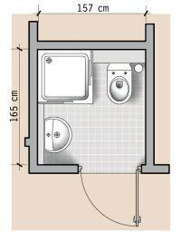 testowy: 13 czyli o łazienkach w domu. Small Shower Room, Small Toilet Room, Small Bathroom Layout, Bathroom Red, Tiny Bathrooms, Tiny House Bathroom, Bathroom Interior, Bathroom Floor Plans, Bathroom Flooring