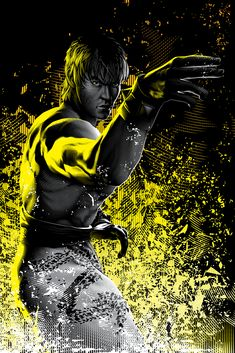 Alternate character art for the US release of Tekken 7 for July Game Character Design, Character Art, Gaming Wallpapers, Cute Wallpapers, Martial Arts Games, Street Fighter Tekken, Marshall Law, Bruce Lee Art, Jin Kazama